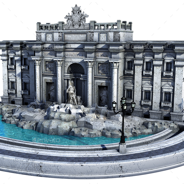 Fontana di Trevi. Rome - Architecture 3D Renders