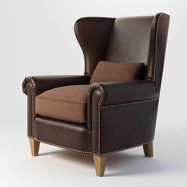 Vray Ready Luxury Arm Chair