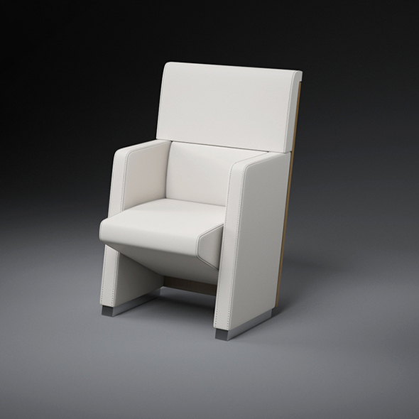 Vray Ready Modern Leather Chair - 3DOcean Item for Sale
