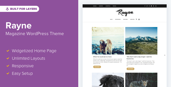 Rayne - WordPress Blogging Theme