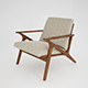 Vray Ready Luxury Wooden Arm Chair