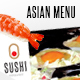 Sushi Food Menu Template
