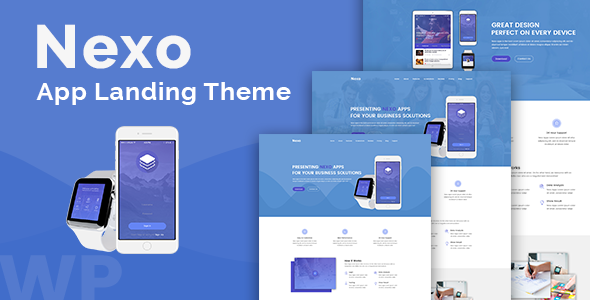 Nexo – Multipurpose Landing Page Theme - Technology WordPress