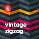 Grungy and Vintage Zig Zag Backgrounds