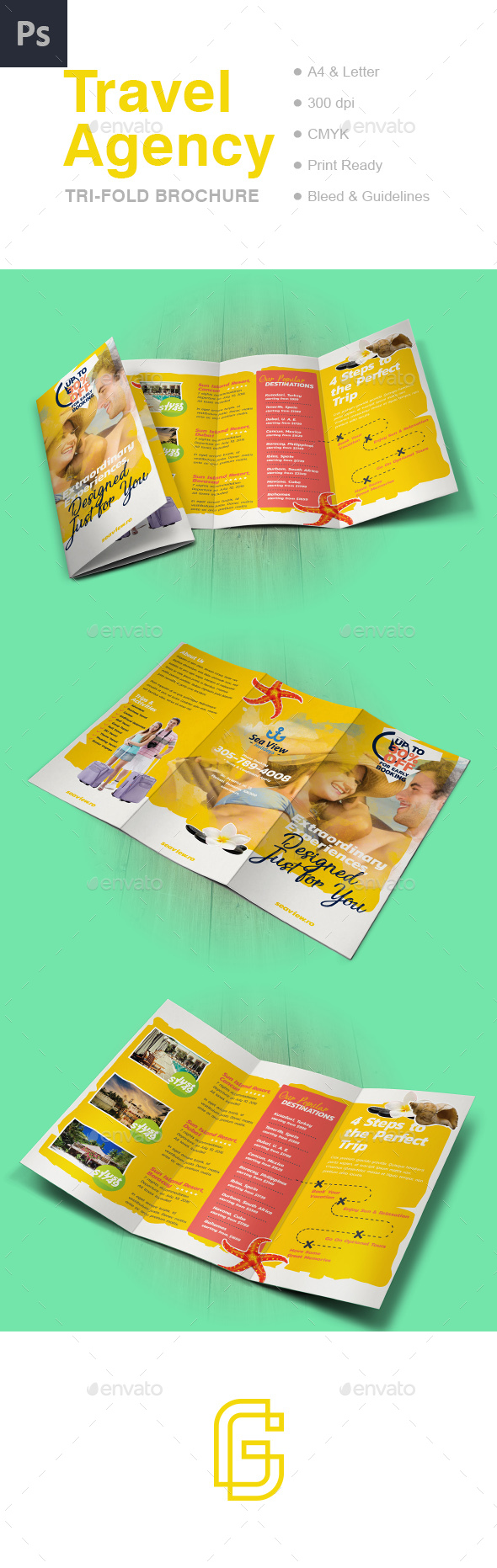 Travel Trifold Brochure - Informational Brochures