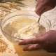 In a Glass Bowl, the Cook Kneads a Thick Dough - VideoHive Item for Sale