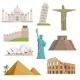 Different Historical Famous Landmarks.