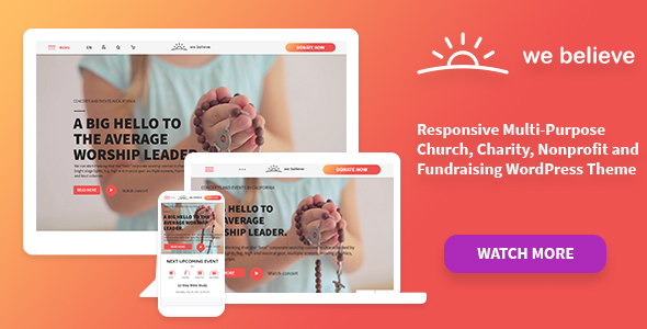 Image of WeBelieve | Church, Charity and Fundraising Responsive Multi-Purpose WP Theme