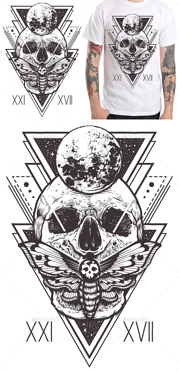 Skull Sacred Design I - Designs T-Shirts