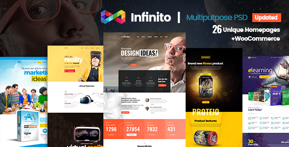 Infinito Multipurpose PSD Template - Creative PSD Templates