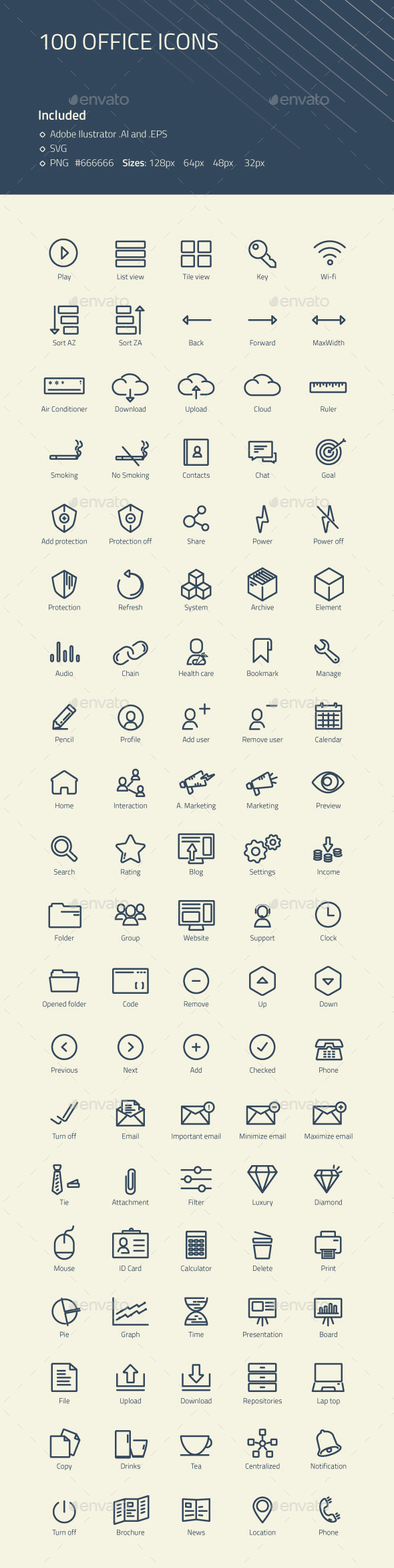 Modern Office Icons - Business Icons