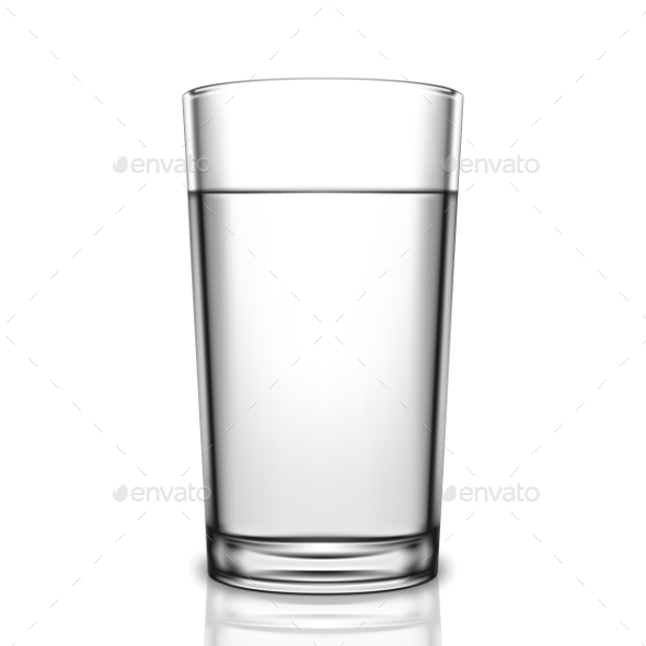 Transparent Glass of Water - Food Objects