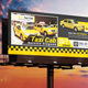 Taxi Cab Billboard Template