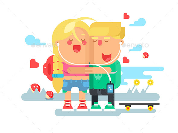 GraphicRiver Empathy Boy and Girl 20304756