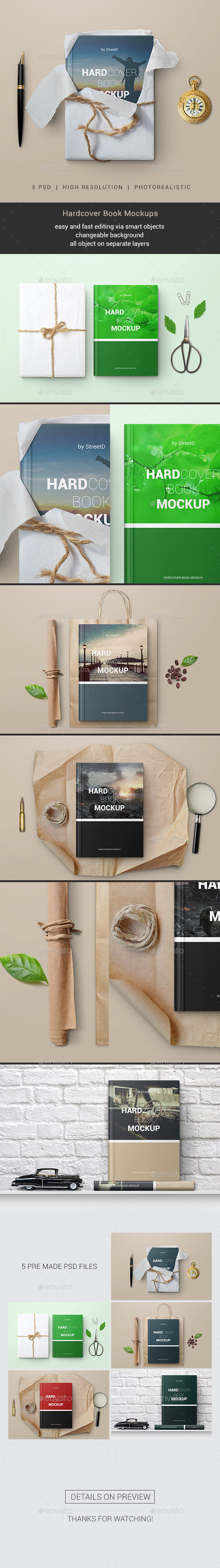 GraphicRiver Hardcover Book Mockups 20295461