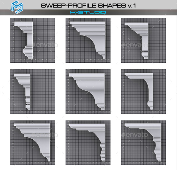 Sweep Profile Shapes vol.1 - 3DOcean Item for Sale