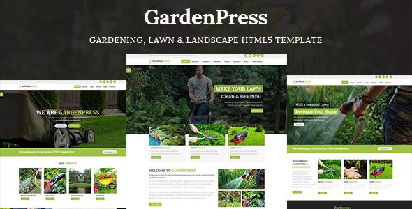 GardenPress - Gardening, Lawn & Landscape HTML5 Template - Business Corporate