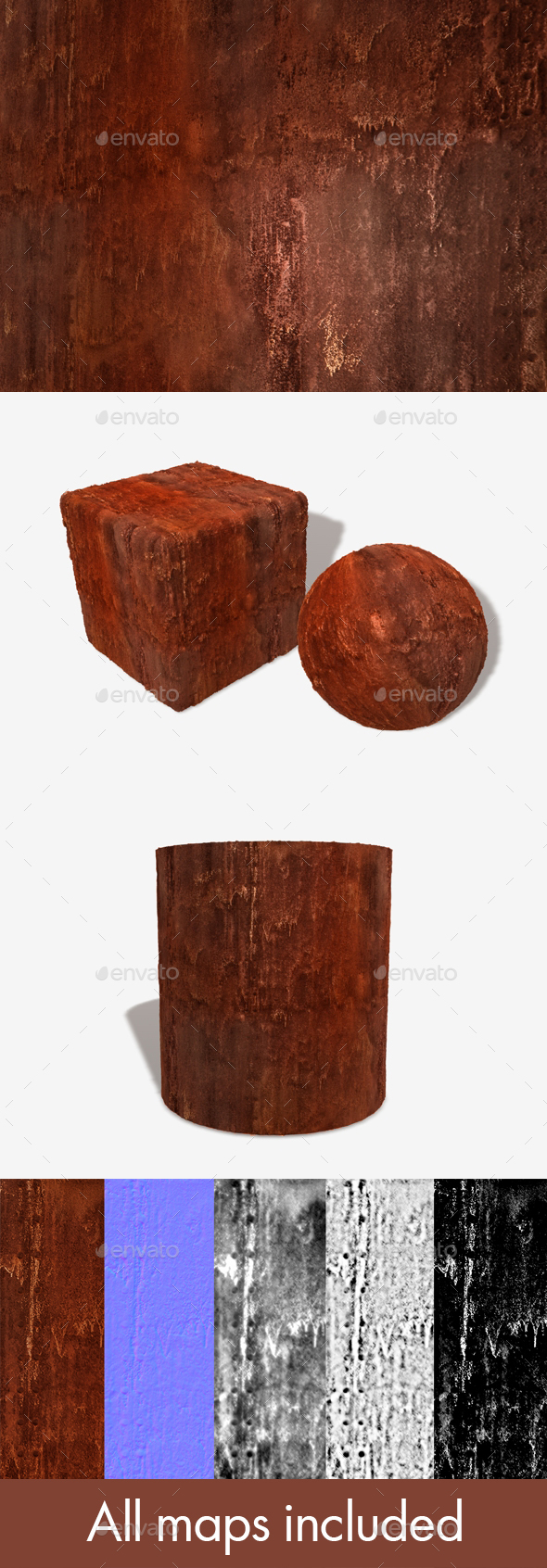 Orange Rust Seamless Texture - 3DOcean Item for Sale