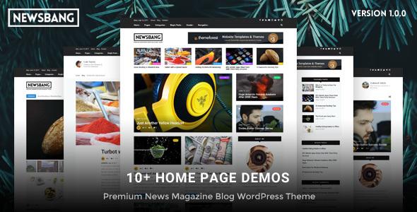 Newsbang – WordPress News Magazine Weblog Theme (Weblog / Magazine)