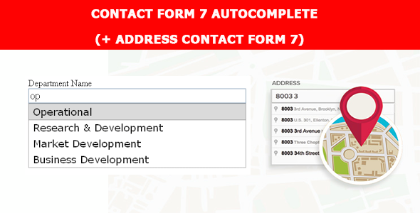 CF7 Autocomplete - Address Field (Add-on For CF7) - CodeCanyon Item for Sale