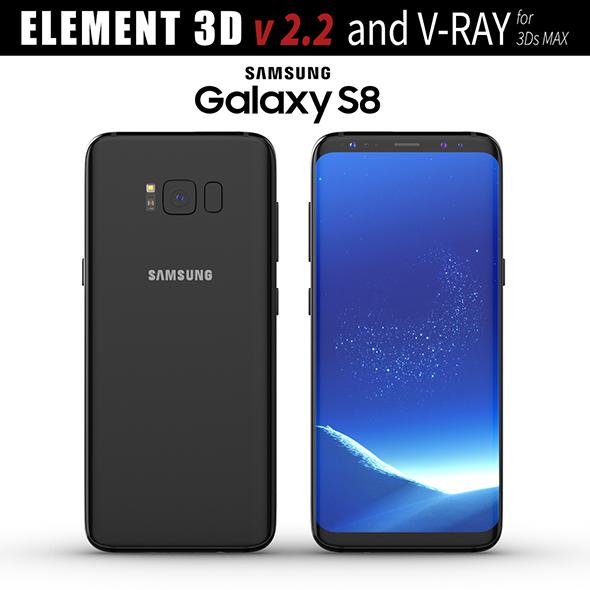 Samsung Galaxy S8 Midnight Black model - 3DOcean Item for Sale