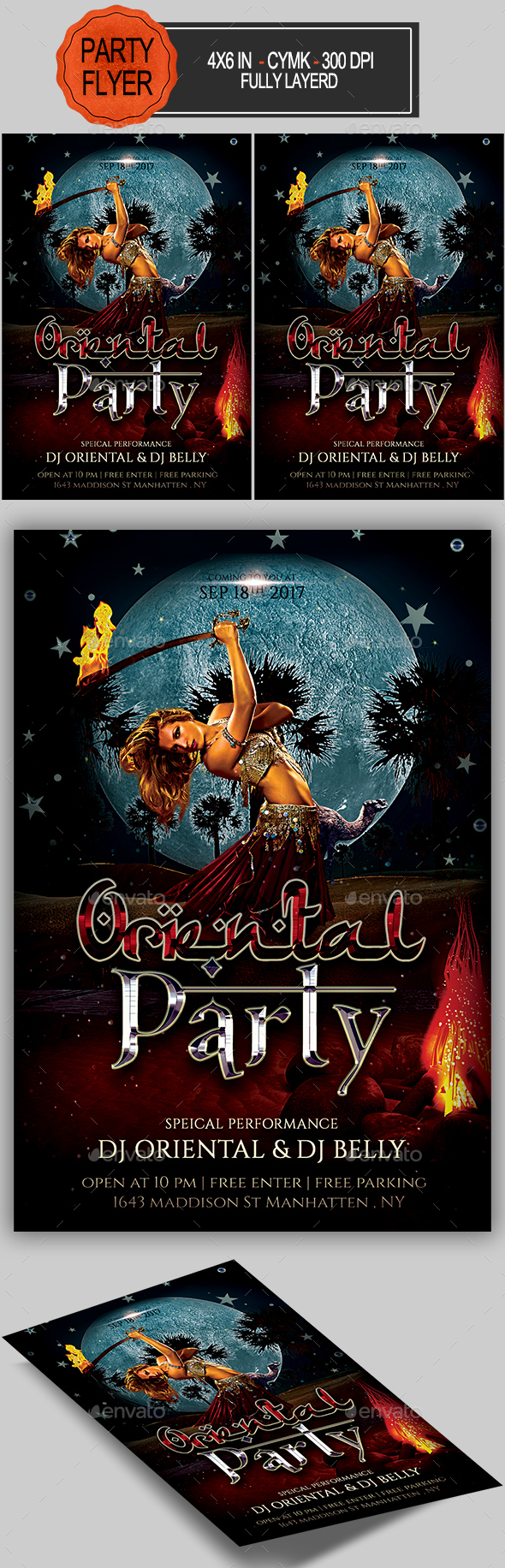 Oriental Party Flyer - Clubs & Parties Events