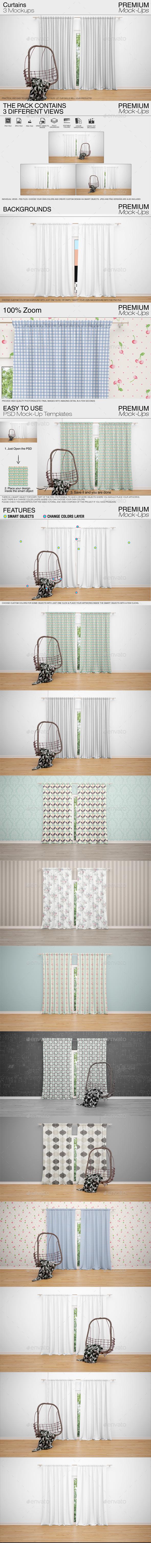 Curtains Mockup Pack - Print Product Mock-Ups