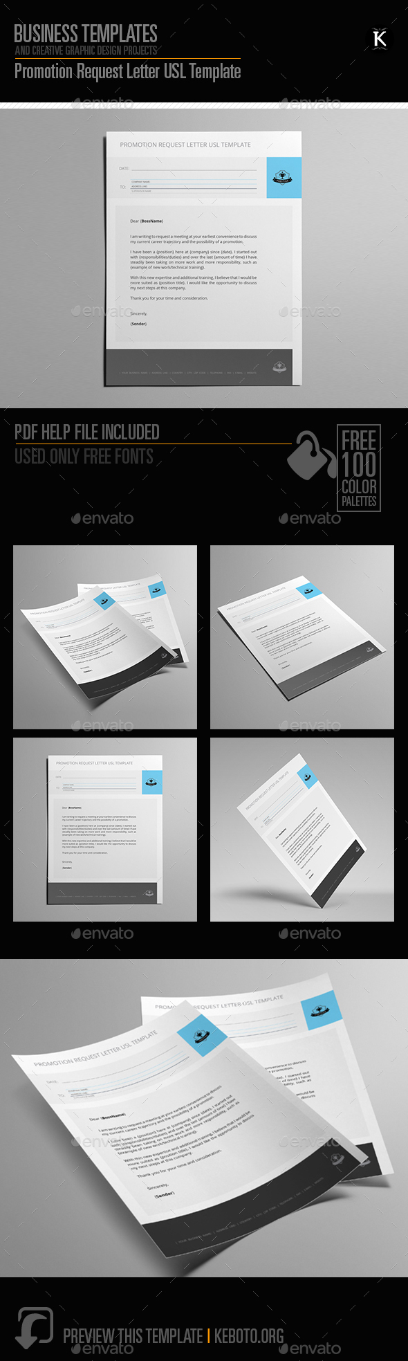 Promotion Request Letter USL Template - Miscellaneous Print Templates