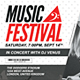 Musical Festival Multipurpose Event Ticket - GraphicRiver Item for Sale