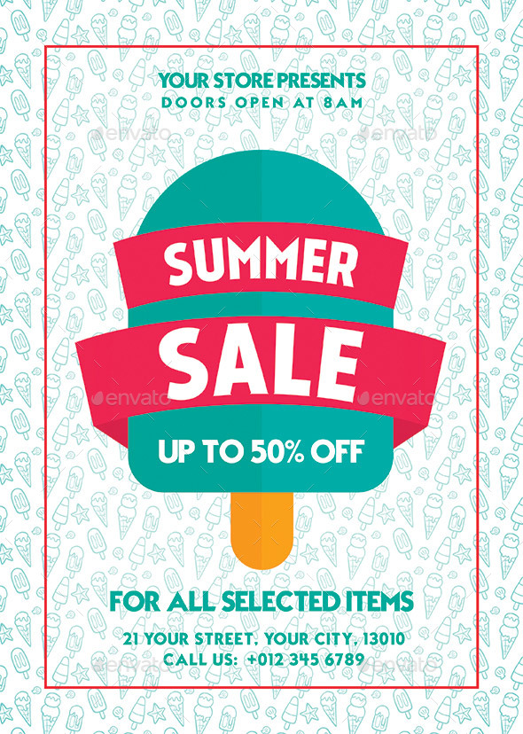 GraphicRiver Summer Sale Flyer 20305525