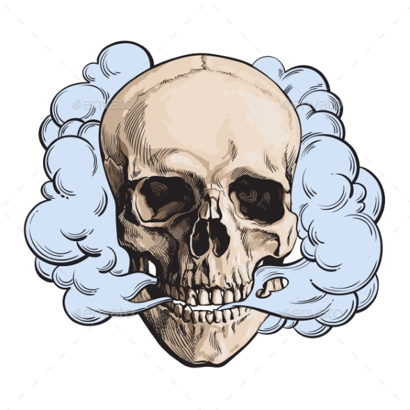 Smoke Coming Out of  Skull - Miscellaneous Characters
