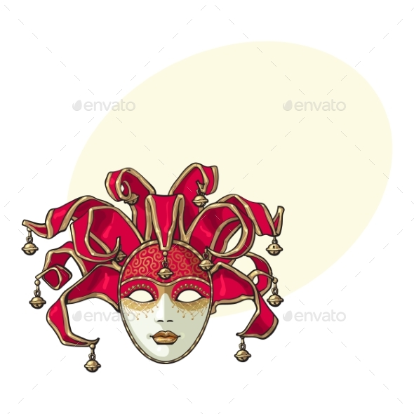 Decorated Venetian Carnival Mask - Miscellaneous Seasons/Holidays