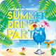 Summer Drinks Party Flyer