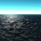Computer Generated Beautiful Ocean Scene with Shiny Warm Sun