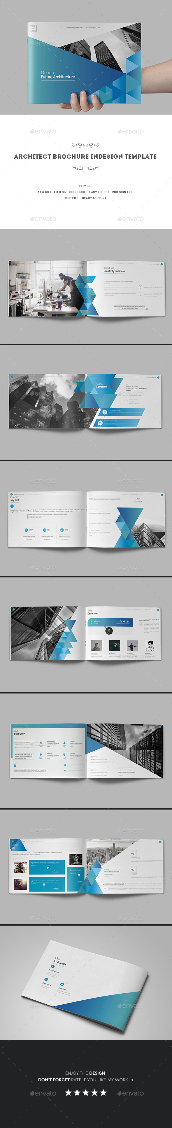 Architect Brochure Indesign Template - Corporate Brochures