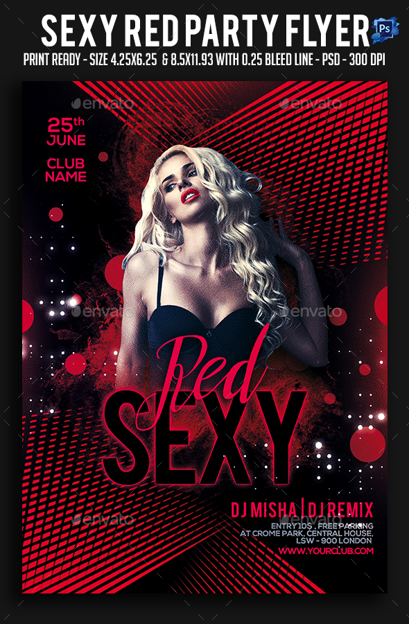Sexy Red Party Flyer - Clubs & Parties Events