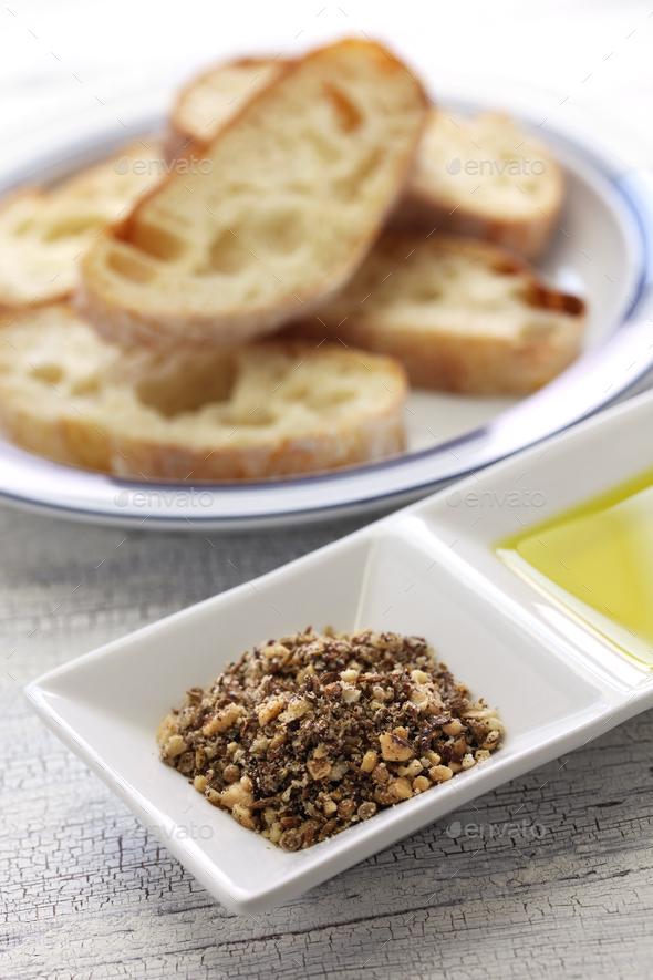 homemade dukkah, egyptian condiment - Stock Photo - Images