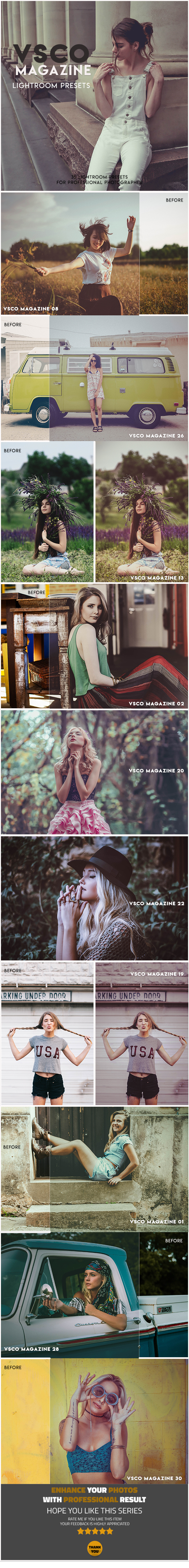 VSCO Fashion Lightroom Presets - Lightroom Presets Add-ons