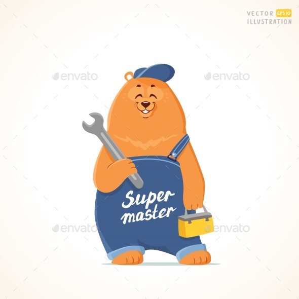 Bear Super Master - Animals Characters