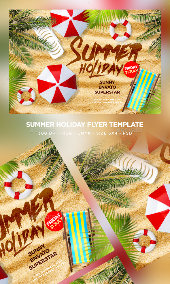 Summer Holiday Flyer - Clubs & Parties Events
