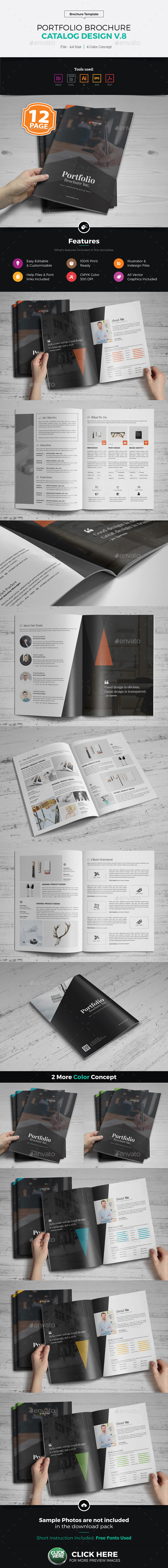 GraphicRiver Portfolio Brochure Catalog Design v8 20306083