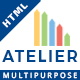Atelier - Multipurpose HTML Template - ThemeForest Item for Sale