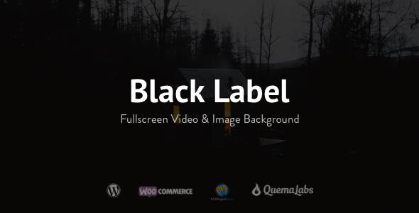 Black Label - Fullscreen Video & Image Background - Photography Creative