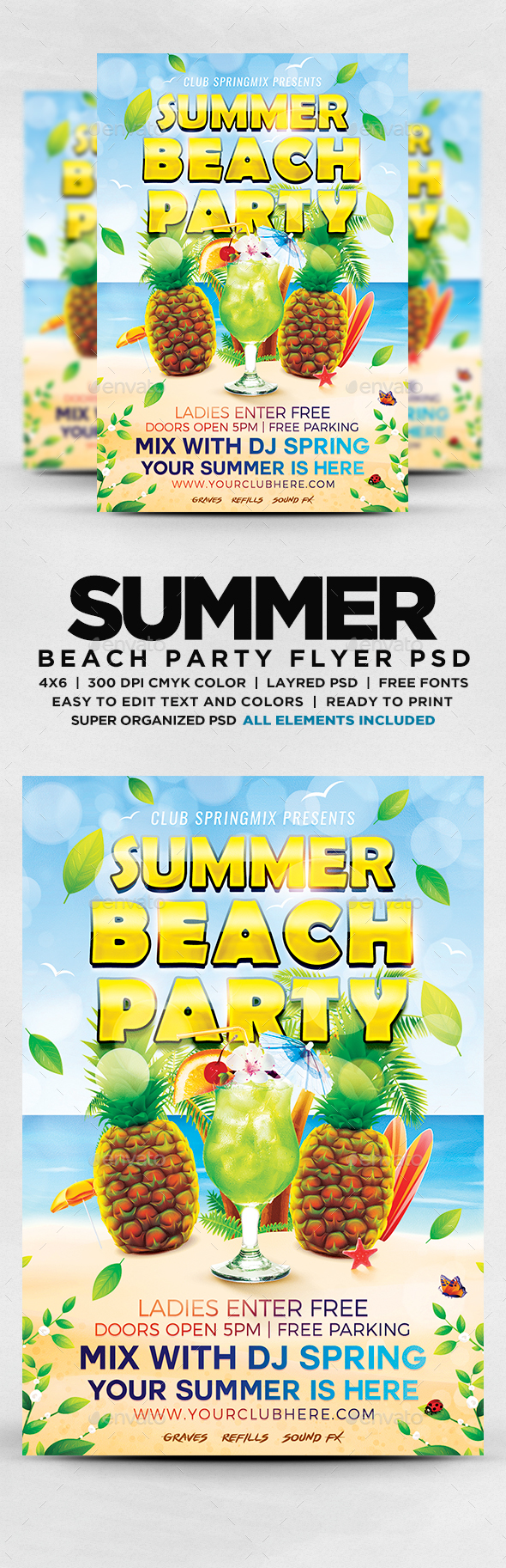 GraphicRiver Summer Beach Party Flyer 20306242