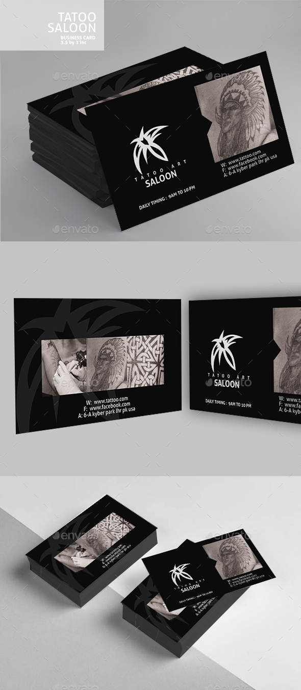 Tattoo Business Card Design - Business Cards Print Templates