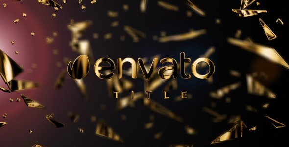 Videohive - After Effects Template -  Gold Fragments