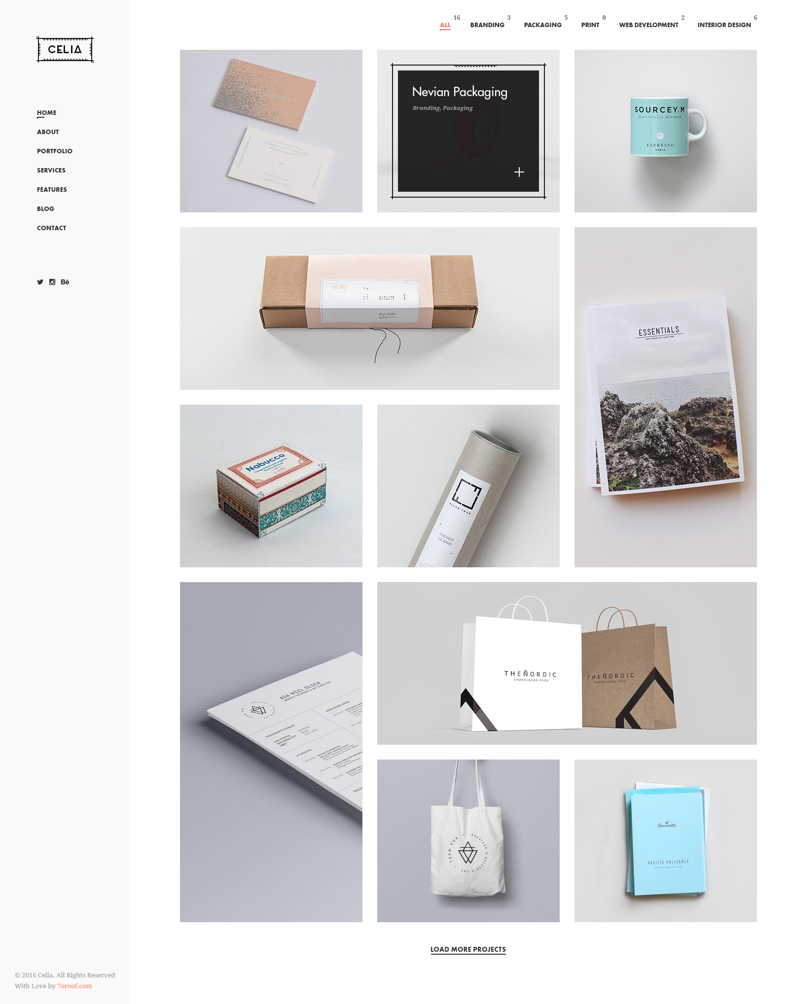Celia - Innovative and Inspiring Portfolio PSD Template for Modern ...