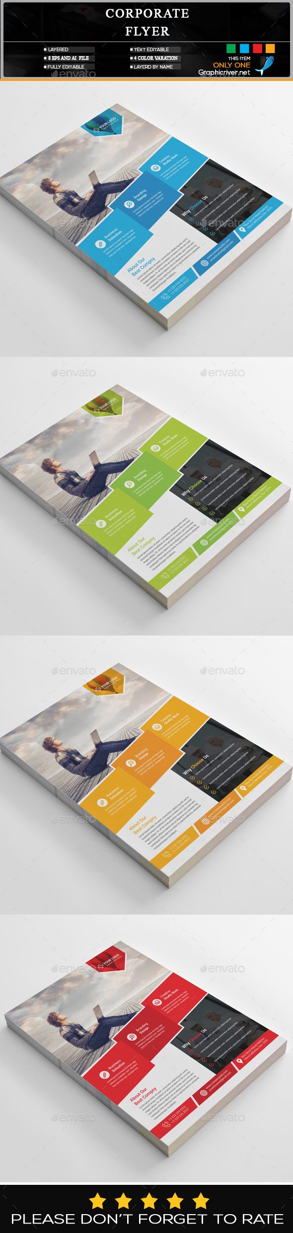 GraphicRiver Corporate Flyer 20306408