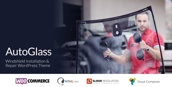 AutoGlass - Windshield Installation & Repair WordPress Theme