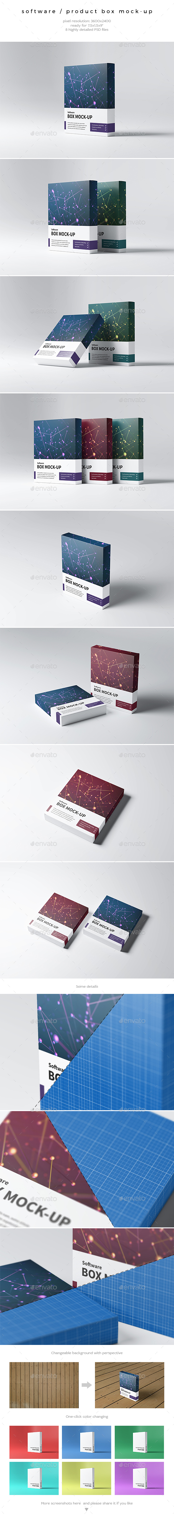 Software / Product Box Mock-Up